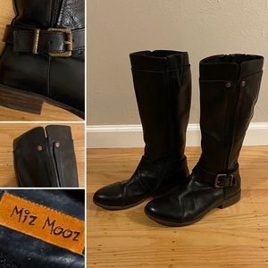 Mix Mooz black leather riding boots
